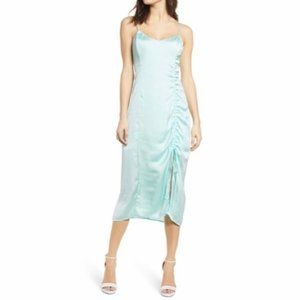 NWT Leith Mint Green Ruched Dress XS